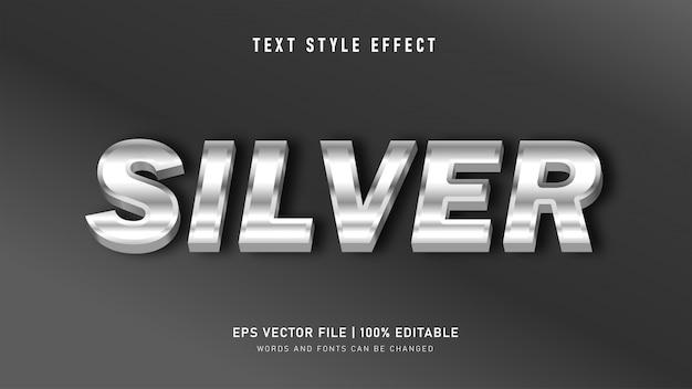 Metall silber text stil effekt Premium Vektoren