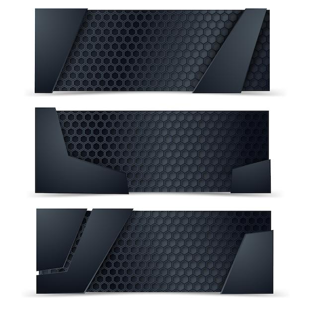 Metall- und carbon-layout Premium Vektoren