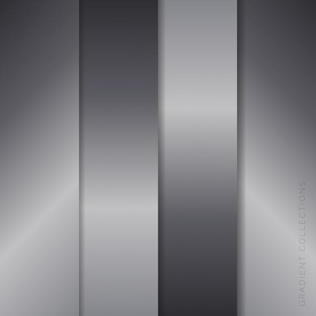 Metallic farbverläufe collections pack Premium Vektoren