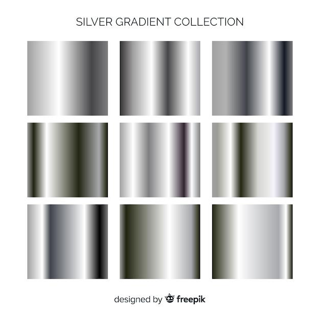 Metallic-gradientensammlung Kostenlosen Vektoren