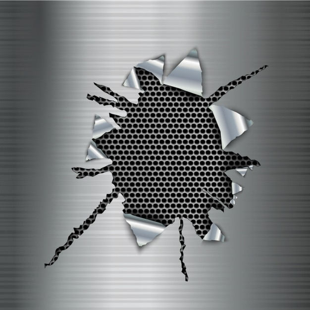 Metallic hintergrund design Kostenlosen Vektoren