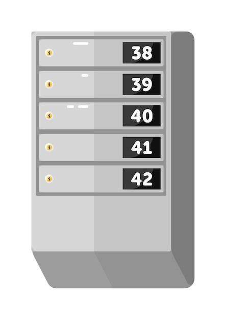 Metallische briefkastenanordnung für wohnhaus lokalisiert auf weiß Premium Vektoren