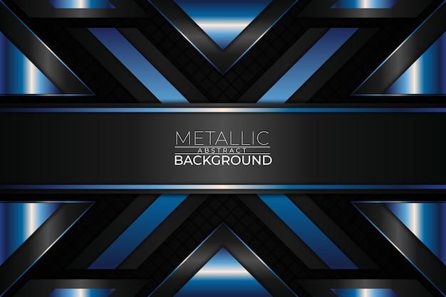 Metallischer abstrakter hintergrund x-form-stil Premium Vektoren