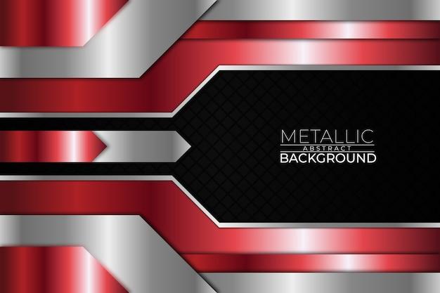 Metallischer abstrakter hintergrundquadrat-roter stil Premium Vektoren