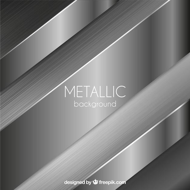 Metallischer hintergrund mit abstrakten formen Kostenlosen Vektoren