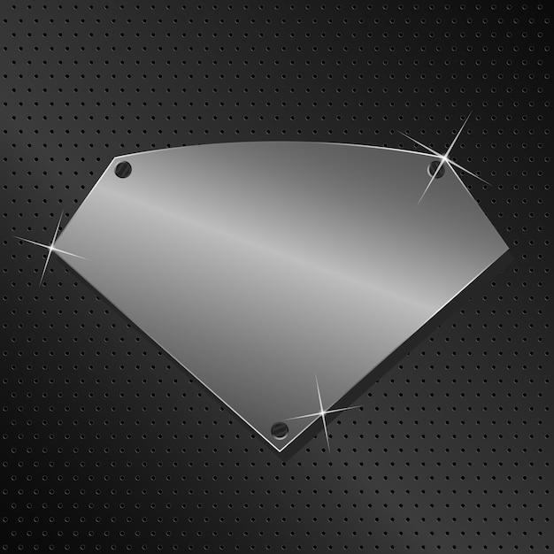Metallschild Premium Vektoren