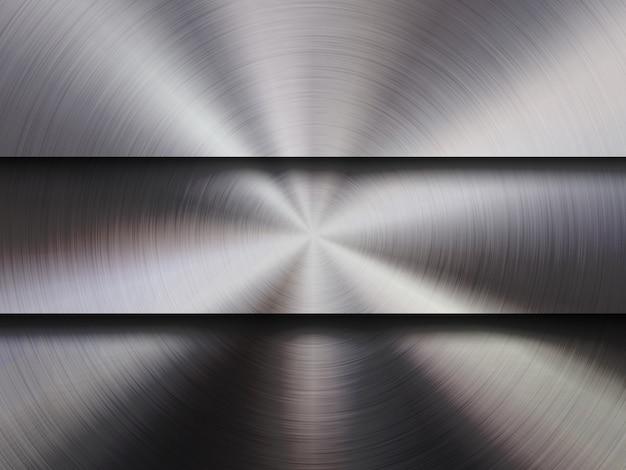 Metallstrukturierter technologie-hintergrund Premium Vektoren