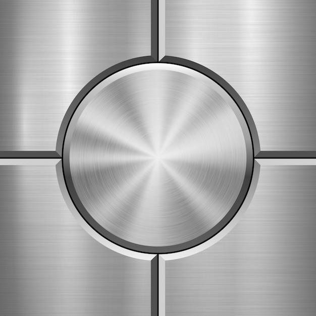 Metalltechnologiehintergrund mit gebürsteter beschaffenheit Premium Vektoren