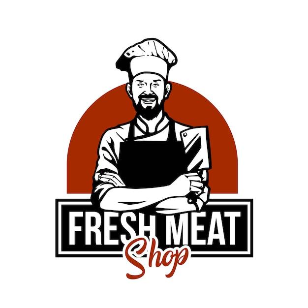 Metzger fleisch illustration Premium Vektoren