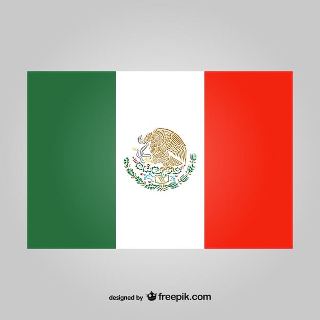 Mexikanische Flagge Vektor Kostenlose Vektoren