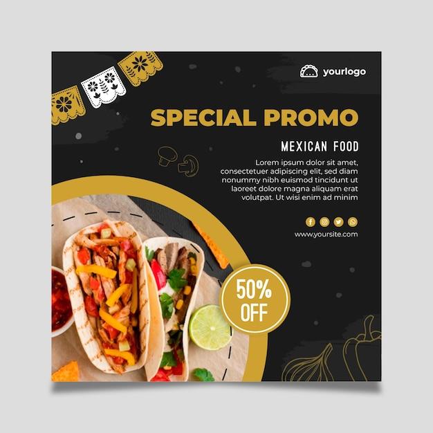 Mexikanische food flyer vorlage Kostenlosen Vektoren