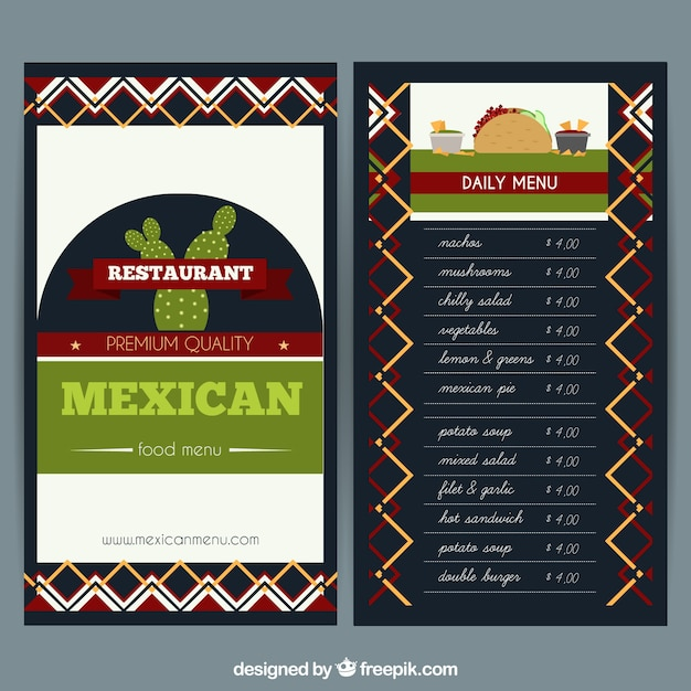 Fein Mexikanische Restaurant Menüvorlagen Galerie ...