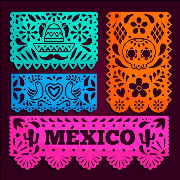 Mexikanischer ammer-pack-stil Premium Vektoren