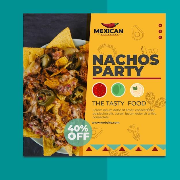 Mexikanischer restaurant flyer platz Premium Vektoren