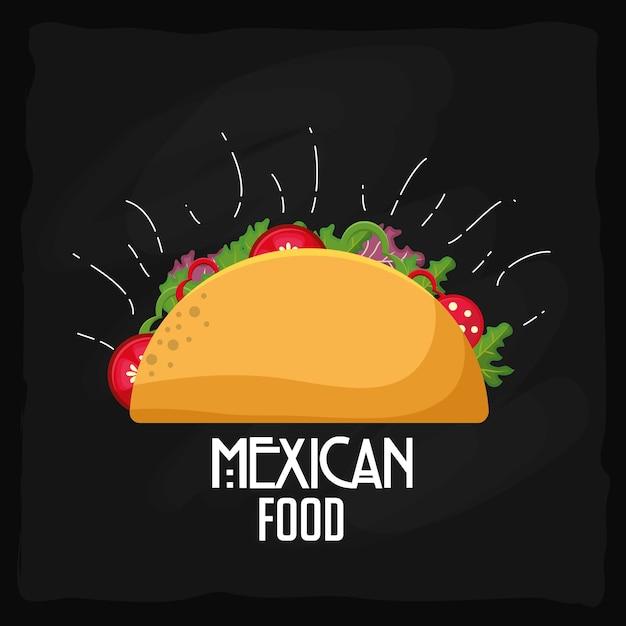 Mexikanisches essen design Premium Vektoren