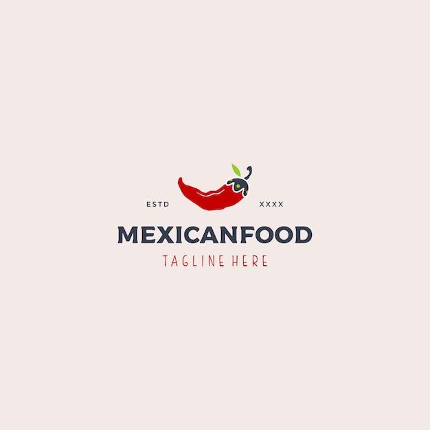 Mexikanisches essen logo vorlage Premium Vektoren