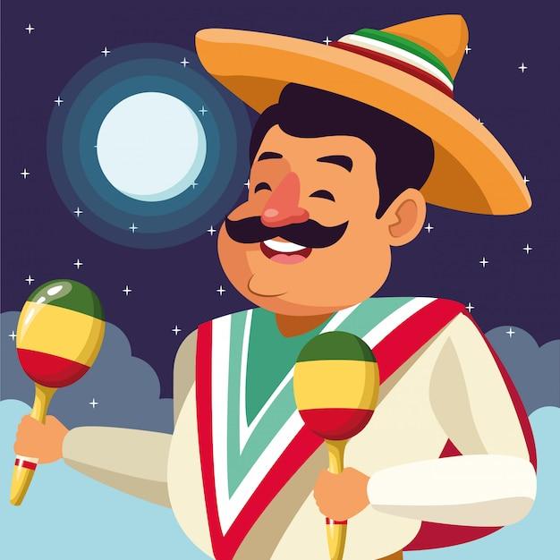 Mexikanisches essen und traditionelle kultur Kostenlosen Vektoren