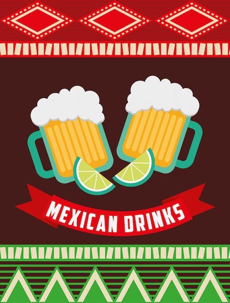 Mexikanisches getränkedesign Premium Vektoren
