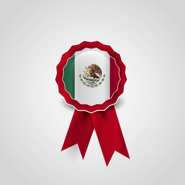 Mexiko-flaggenausweis-designvektor Kostenlosen Vektoren