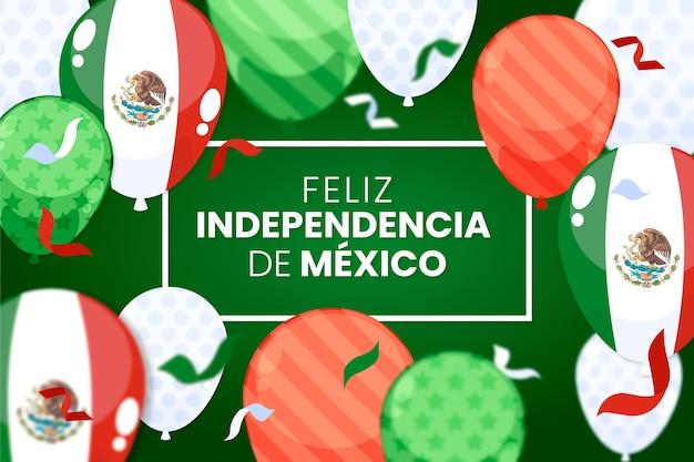 Mexiko unabhängigkeitstag ballon hintergrund Kostenlosen Vektoren