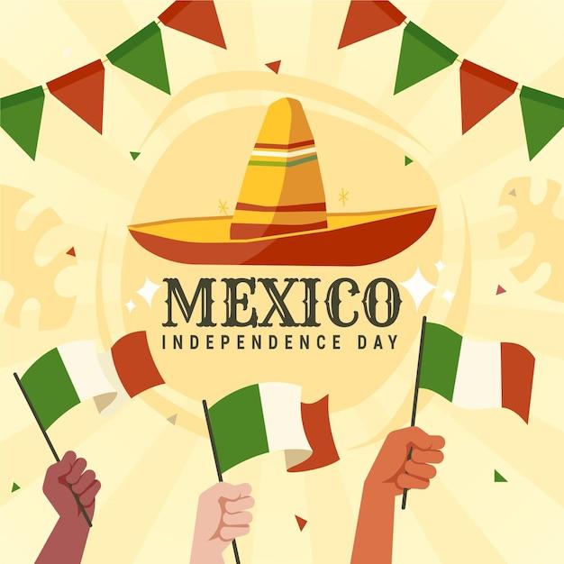 Mexiko unabhängigkeitstag konzept Premium Vektoren