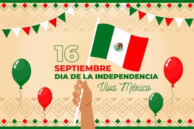 Mexiko unabhängigkeitstag konzept Kostenlosen Vektoren
