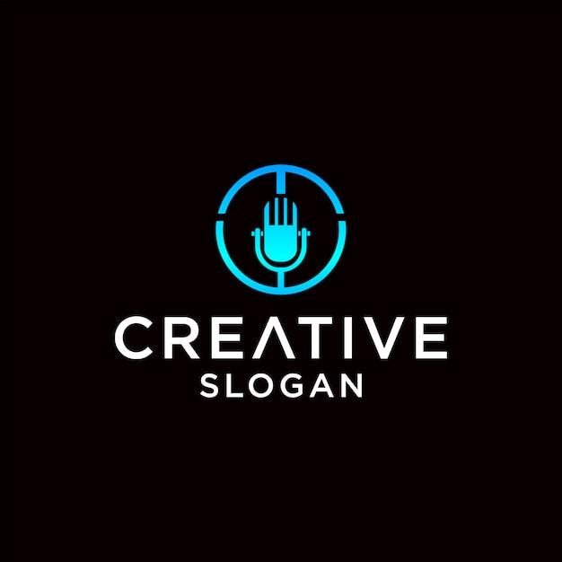 Mic logo design Premium Vektoren