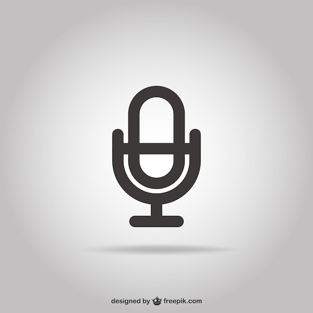 Mikrofon-Symbol | Download der kostenlosen Vektor