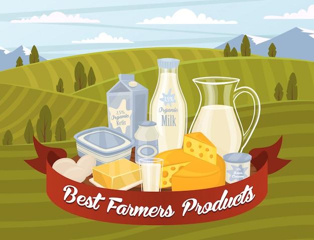 Milchprodukte vektor Premium Vektoren