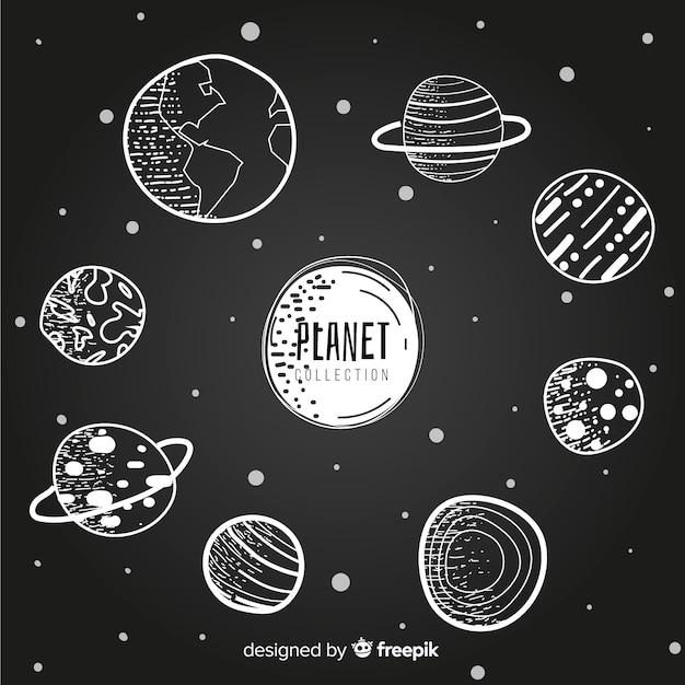 Milchstraße planeten sammlung Kostenlosen Vektoren
