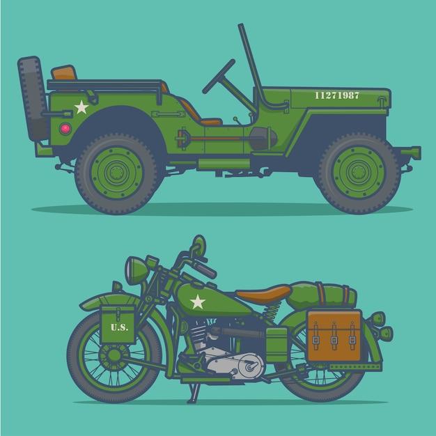 Militärfahrzeug vektor ilustration Premium Vektoren