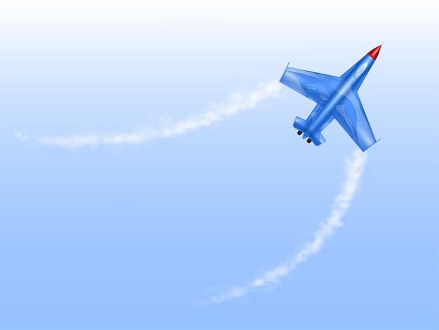 Militärflugzeuge in der kurve, kampfflugzeug im drehbeschleunigung. Kostenlosen Vektoren