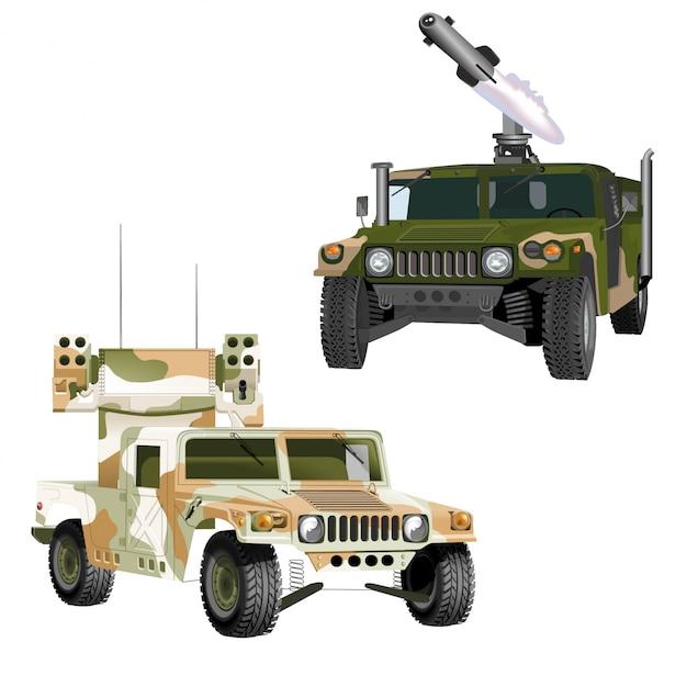 Militärische suvs Premium Vektoren