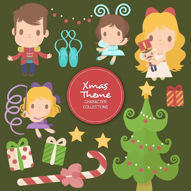 Millie Weihnachten Winter Zeichen Premium Vektoren
