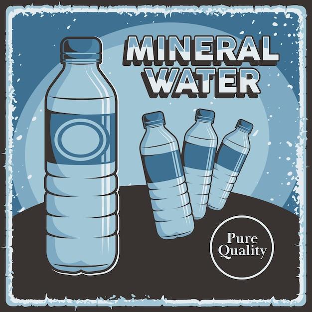 Mineralwasser beschilderung retro rustikal classic Premium Vektoren