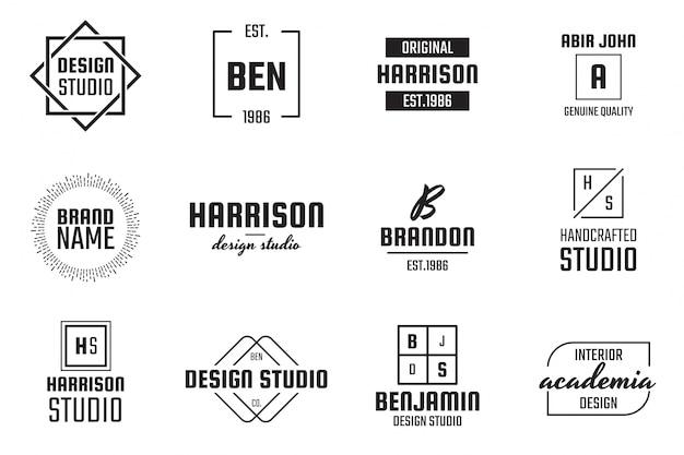 Minimal logo für banner, poster, flyer Premium Vektoren