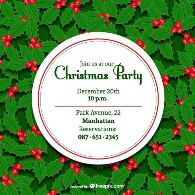 Minimal-Weihnachtsparty Einladung | Download der kostenlosen Vektor
