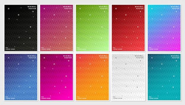 Minimale abdeckungen, abstrakter geometrischer hintergrund Premium Vektoren