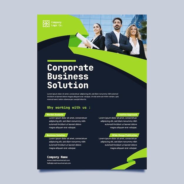 Minimale business-flyer-vorlage Kostenlosen Vektoren