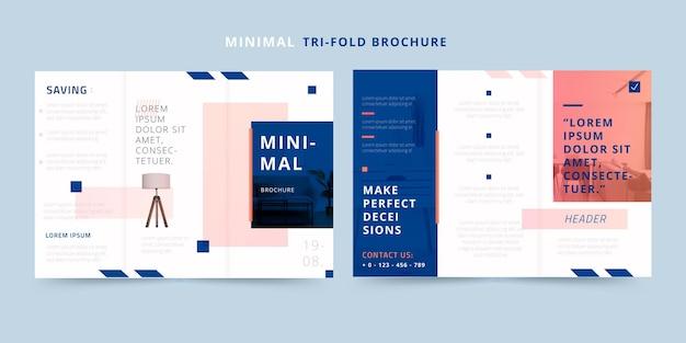 Minimale dreifach gefaltete broschüre für hausmöbel Premium Vektoren