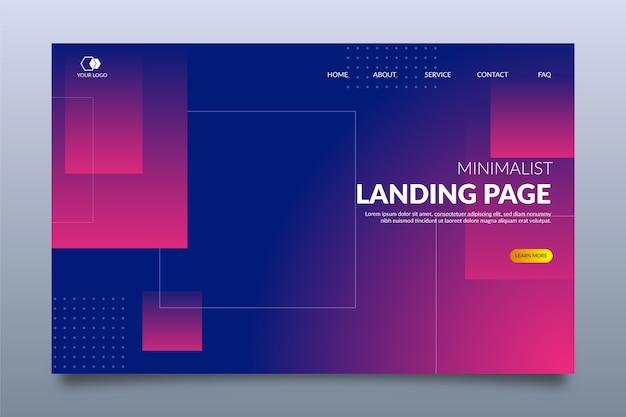 Minimale geometrische landingpage Kostenlosen Vektoren