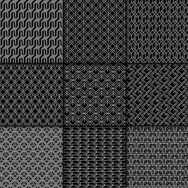 Minimale geometrische mustersammlung Kostenlosen Vektoren