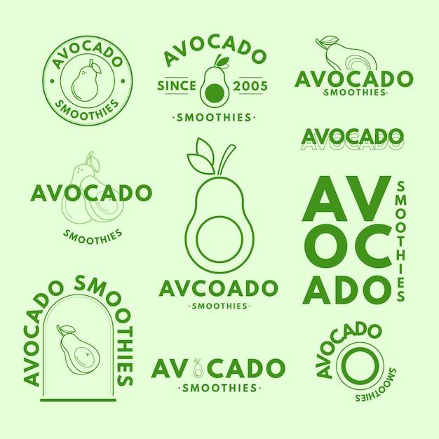 Minimale logosammlung in zwei farben Kostenlosen Vektoren