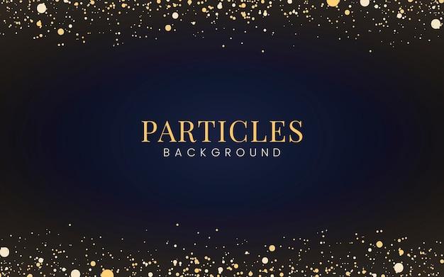 Minimale tapete mit dekorativen goldglitterpartikeln Kostenlosen Vektoren