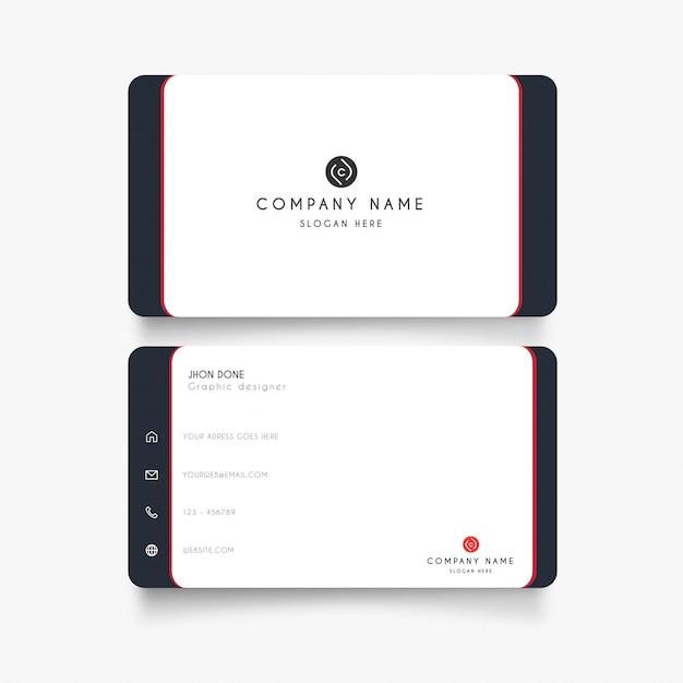 Minimale weiße visitenkarte Kostenlosen Vektoren