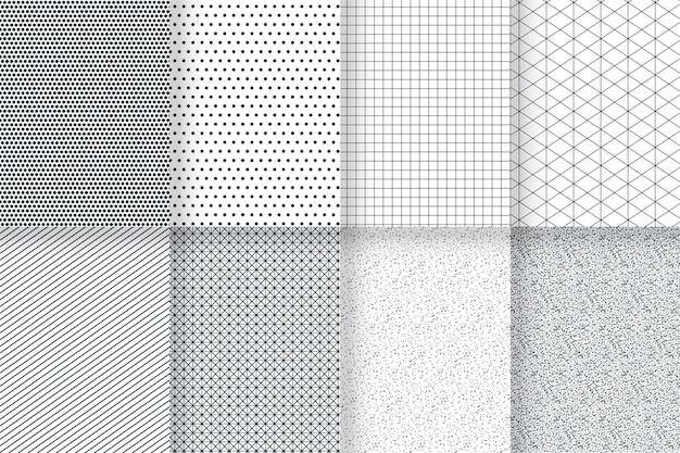 Minimaler geometrischer mustersatz Kostenlosen Vektoren