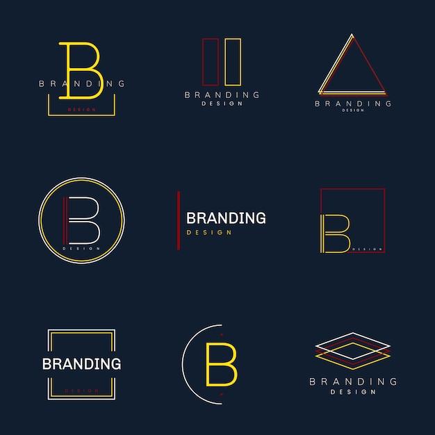 Minimaler gesetzter vektor des brandingdesigns Kostenlosen Vektoren