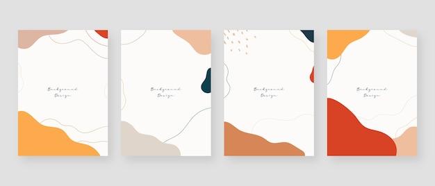 Minimaler konzepthintergrund. abstrakte memphis-hintergründe mit kopierraum für text. Premium Vektoren
