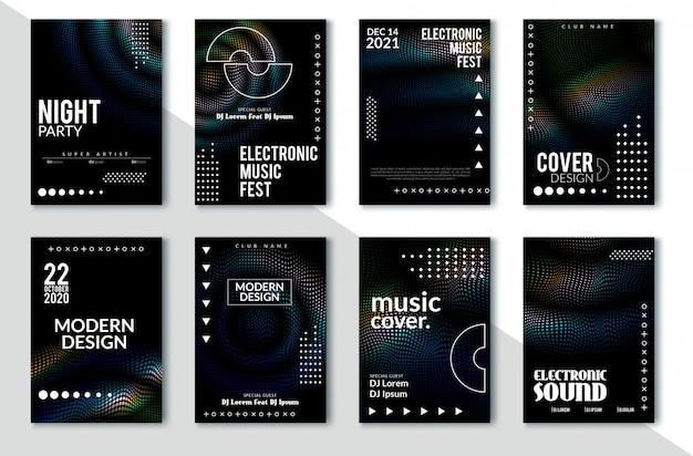Minimales cover-design. bunte halbtonverläufe. zukünftige geometrische muster. eps10 vektor Premium Vektoren