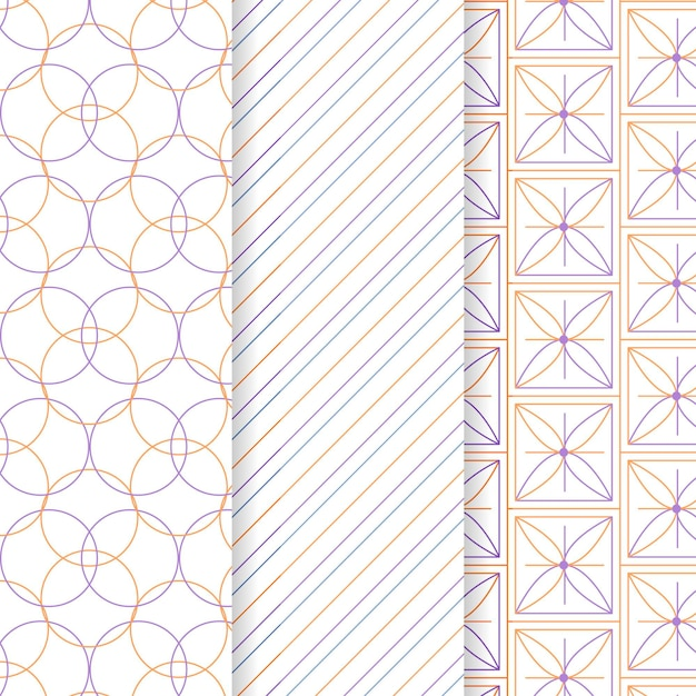 Minimales geometrisches mustersammlungskonzept Kostenlosen Vektoren